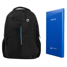 Buy HP/Dell Laptop Bag with Sony 10400mAh Powerbank In Just Rs. 999