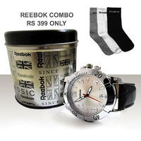 Reebok watch with 3 pcs Reebok combo sock just Rs 399 only