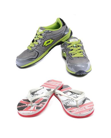 Buy Combo of Stylish Sports Shoes With Slippers Just Rs 999