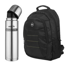 Buy Branded Dell/HP Laptop bag with Milton Steel Insulated 1000 ml Flask Just Rs. 999