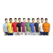 COMBO OF 10 MENS ROUND NECK TSHIRTS, xl