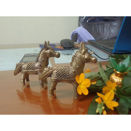 OHD008: Dhokra Horse to decorate your puja room