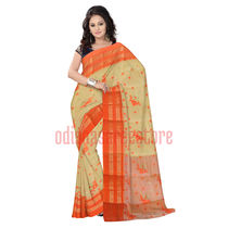 OSSWB012: Small ball and flower design cotton saree online