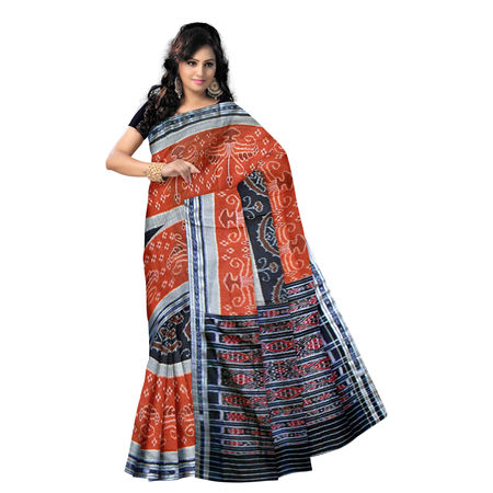 OSS7009: Traditional Brick with Beautiful Handwoven cotton sarees.