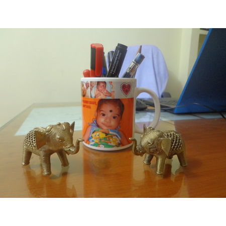 OHD013: Dhokra small elephant set for your study table