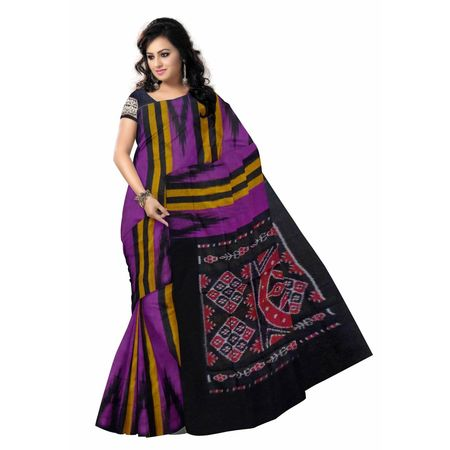 OSS7313: New Magenta color Ikat handwoven cotton sarees