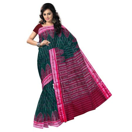 OSS9001: Latest Handwoven Green color cotton sarees