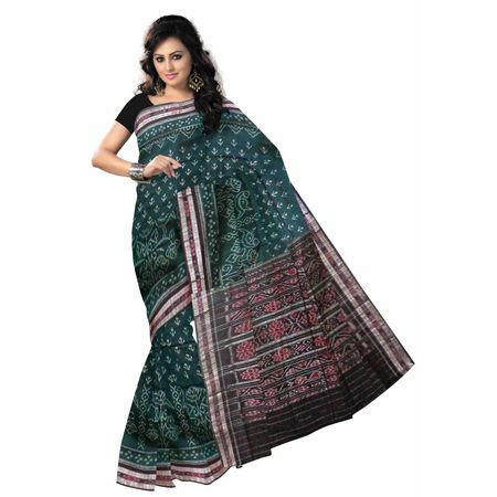 OSS7455: Traditional Handwoven Green cotton sarees for party wear