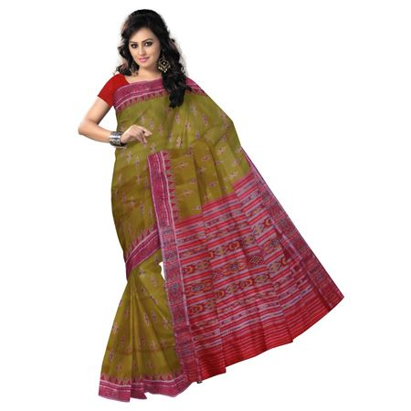 OSS9010: Light Olive color silk saree for festival wear