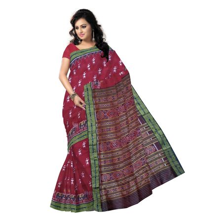 OSS9069: Maroon and Black Special design Handwoven silk sarees for bridal wear
