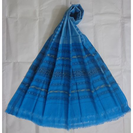 OSS130: Blue color cotton Dupatta best for Office wear