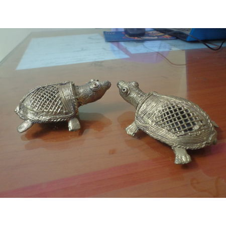 OHD022: Turtle Dhokra decorate in Puja Room.