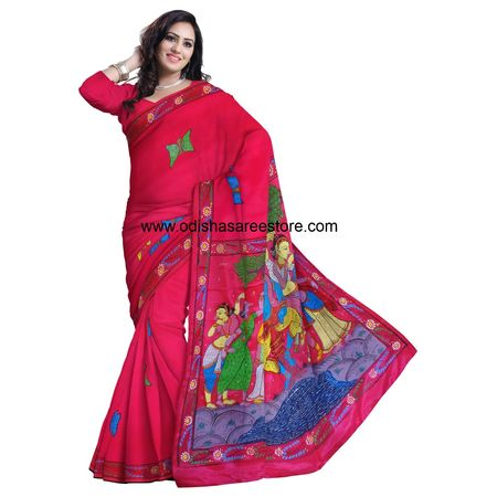OSS20032: Patachira saree paintings of Orissa Buy Online for bridal wear