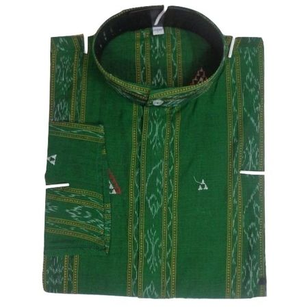 OSS8048: Ikat designs handloom Cotton Kurta