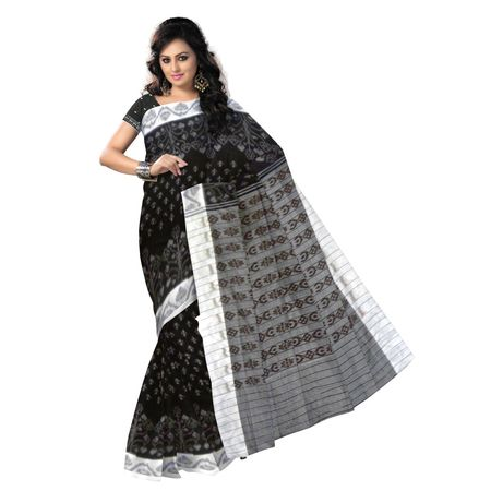OSS9063: Special design White with Black handwoven cotton sarees