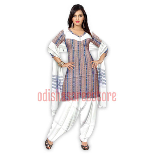 OSS268: PURE HANDLOOM COTTON UNSTITCHED DRESS MATERIAL WITH BEAUTIFUL COLOR