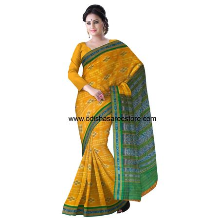 OSS1021: Pasapalli Cross design check big design cotton saree