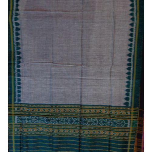 OSS128: Grey with green color cotton Dupatta best to visit temple