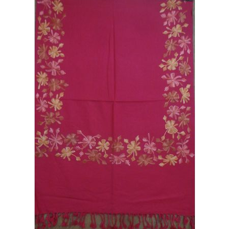 OSSMN001: Manipur Handwoven Red flower Stole