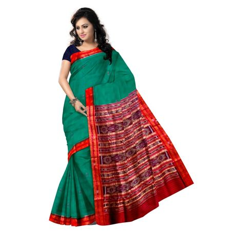 OSS5153: Handloom Green Pure Silk Saree Online Shopping