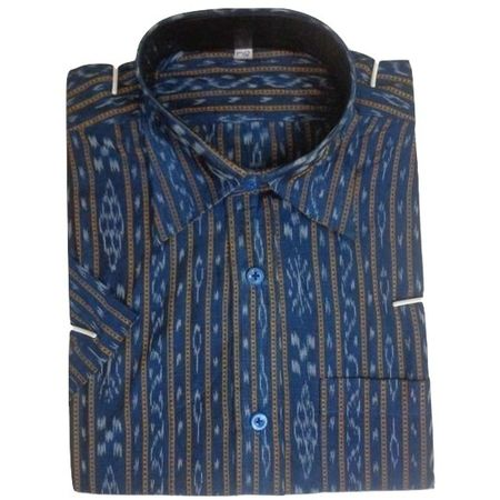 OSS8036: Blue color handloom Cotton Shirt