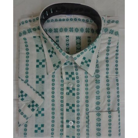 OSS9012: White color Traditional Handwoven cotton shirt.