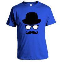 Moustache T-shirt, Men,  royal blue, m