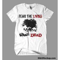 Fear the living than dead, blue, small