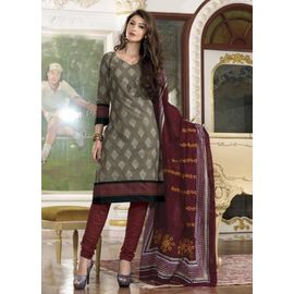 Stylish Daily Grey Cotton Salwar Suits