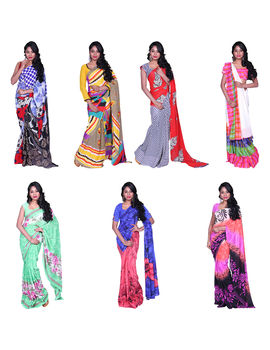COMBO 60 GEORGETTE 7 SAREES