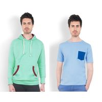 DUSG Men's Hooded Sweatshirt & T-Shirt Combo Pack, s
