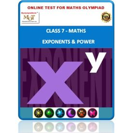 Class 7, Exponents & Power, Online test for Math Olympiad