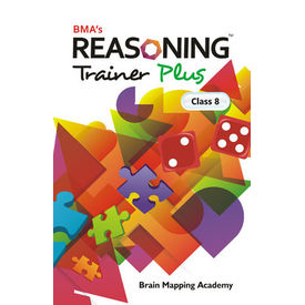 Class 8- Reasoning trainer plus (with solution book) , Mental Ability