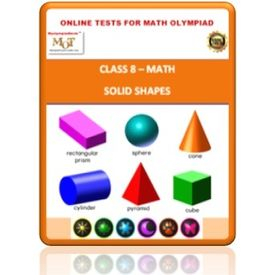 Class 8, Solid shapes, Online test for Math Olympiad