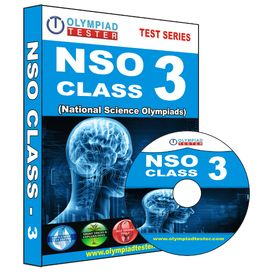 Class 3- NSO Olympiad preparation- Powerful test series (CD) + Annual Subscription to GLOWSOT.