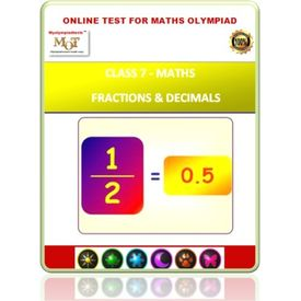 Class 7, Fractions & decimals, Online test for Math Olympiad