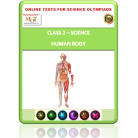 Class 2, Human body, Online test for Science Olympiad