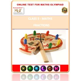 Class 5, Fractions, Online test for Math Olympiad