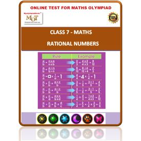 Class 7, Rational numbers, Online test for Math Olympiad