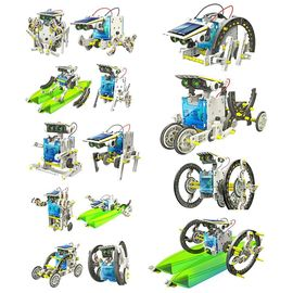 14-in-1 Educational Solar Robot Kit 14in1 car motor robots speed boats and many more