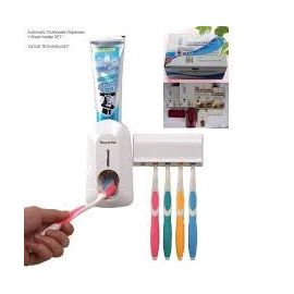 Touch Me Automatic Toothpaste Dispenser with Tooth brush holder