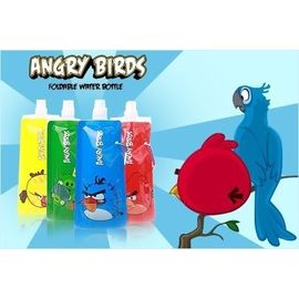 Set Of 4 Angry Birds Safe Reusable Foldable and Freezable Water Bottles by Abelestore
