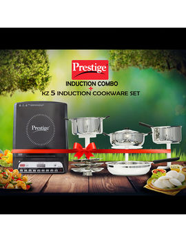 PRESTIGE PIC 20.0 INDUCTION COOK TOP WITH 5 PCS SS INDUCTION BASE COMBO
