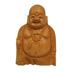 Wooden Laughing Buddha, 5 inches