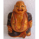 Wooden Laughing Buddha Painted