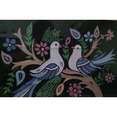 OHG001: Glass Painting with Parrot designs