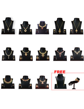 AISHWARYAM 13 SET JEWEL COLLECTION WITH 1 KADA AND PAIR OF ANKLET FREE