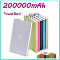 200000mAh thin power bank for samsung S5 S4 portable battery charger for iphone 6 5s 4S Htc micromax sony