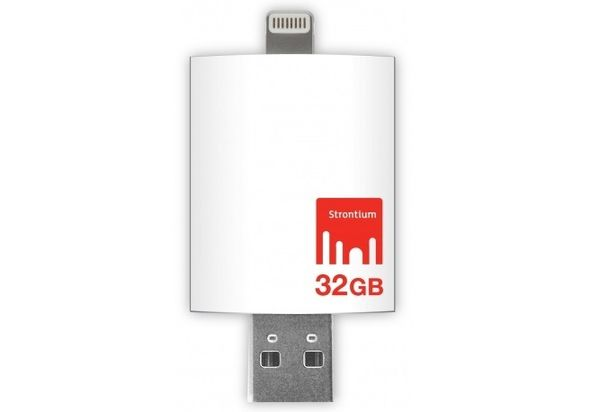 Strontium Apple iDrive 32GB OTG USB Flashdrive White