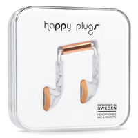 Happy Plugs Earbud, White Marble